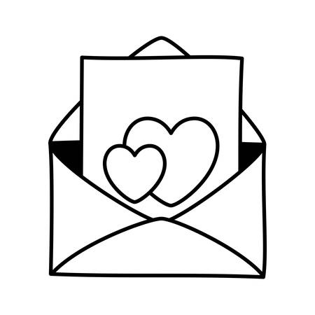 Envelope icon design, Email mail message letter marketing communication card and document theme Vector illustration Illustration