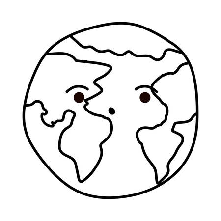 Planet sphere design, Continent earth world globe ocean and universe theme Vector illustration