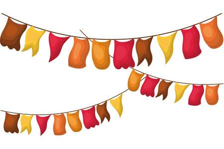Banner pennant design, Flag event line sports decoration and winning theme Vector illustration Archivio Fotografico - 134028871