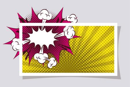 expression splash pop art style vector illustration design Ilustracja