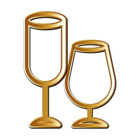 Alcohol glass icon design, Drink beverage liquid menu restaurant store and shop theme Vector illustration
