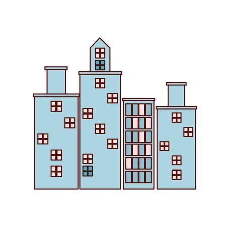 cityscape buildings urban scene icon vector illustration design Illusztráció