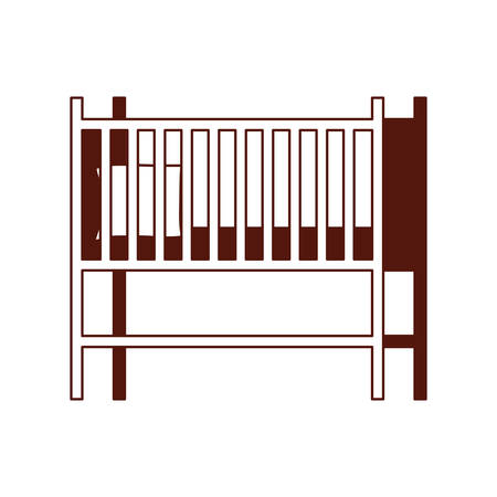 baby cradle wooden forniture icon vector illustration design 写真素材 - 133701741