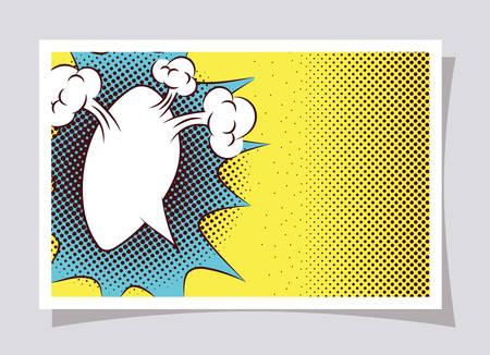 expresion cloud pop art style vector illustration design
