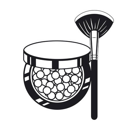 applicator make up thick brush and blush vector illustration design Ilustrace
