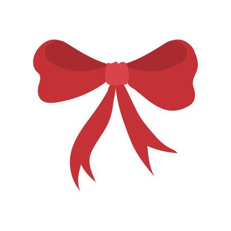 christmas red bow decorative icon vector illustration design Illusztráció