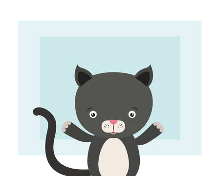 cute little cat animal character vector illustration design Foto de archivo - 133701977