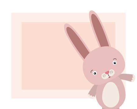 cute little rabbit animal character vector illustration design Foto de archivo - 133701980
