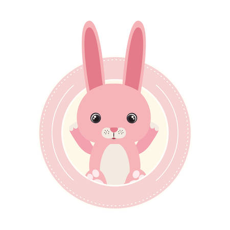 cute little rabbit animal character vector illustration design Foto de archivo - 133702108