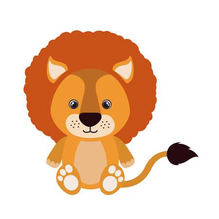 cute little lion animal character vector illustration design Foto de archivo - 133700703