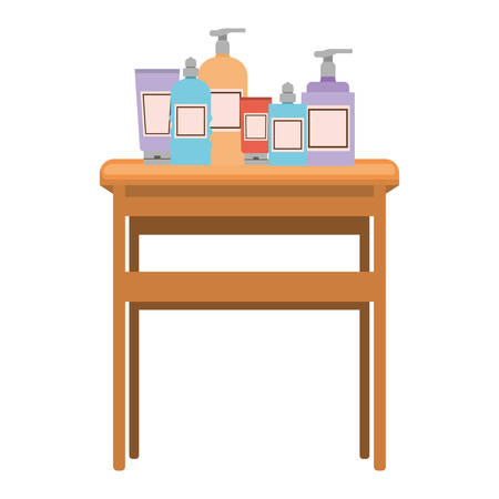 beauty salon desk with equipment vector illustration design Ilustrace