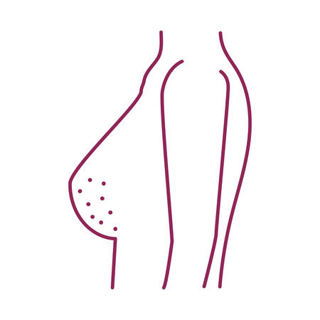 breast cancer woman body icon vector illustration design