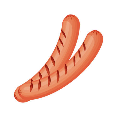 delicious sausage frankfurter isolated icon vector illustration design