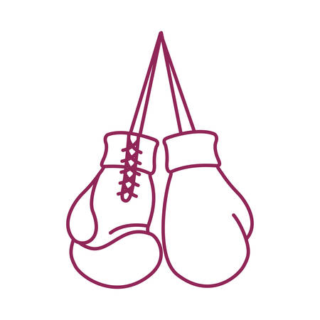 boxing gloves hanging sport equipment icon vector illustration design
