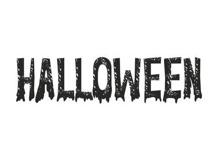 happy halloween dark font message vector illustration design 向量圖像