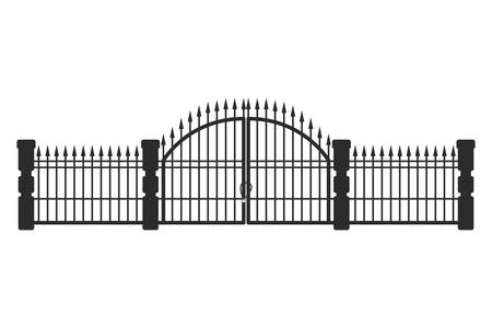iron railings on white background vector illustration design