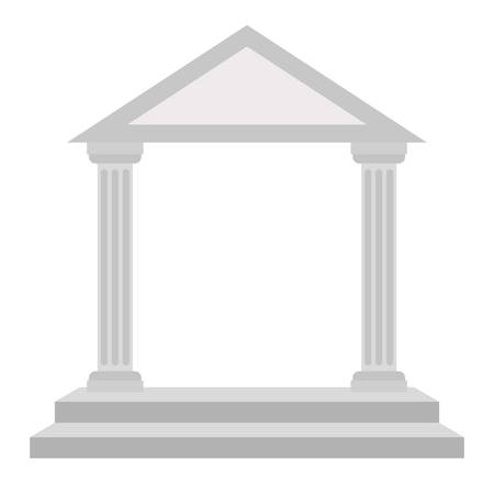 arch columns architecture isolated icon vector illustration design