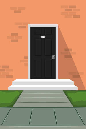 door house front isolated icon vector illustration design