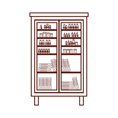 drugs shelving storage isolated icon vector illustration design Ilustrace