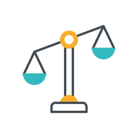 scale balance equality isolated icon vector illustration design