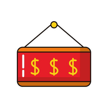 label hanging with price commercial vector illustration design
