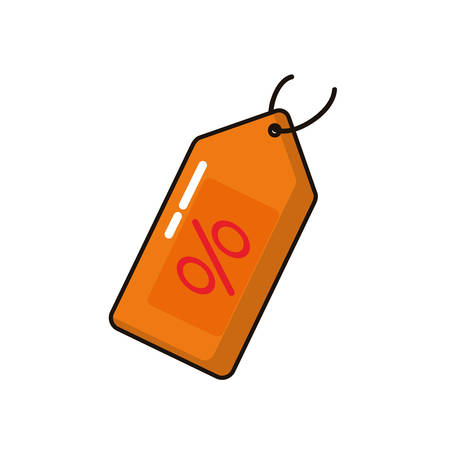 commercial tag with percent symbol vector illustration design