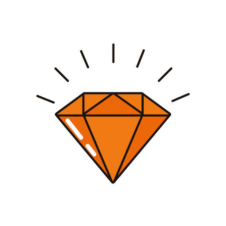 diamond luxury rock isolated icon vector illustration design Illusztráció