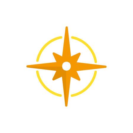 Compass icon design, Sea nautical marine ocean sea ship iron metal and vintage theme Vector illustration