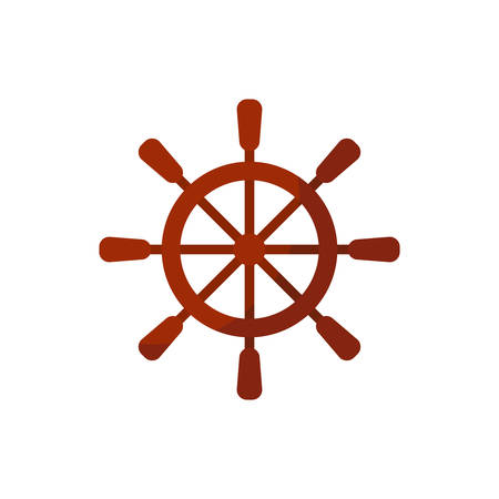 Ship wheel icon design, Sea nautical marine ocean sea iron metal and vintage theme Vector illustration