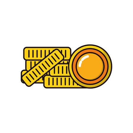 coins money dollars isolated icon vector illustration design Stock fotó - 134029420
