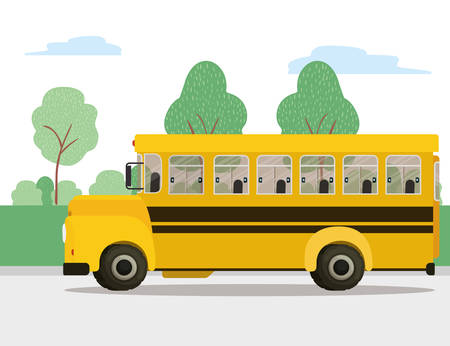Bus icon design, School transportation vehicle education study lesson and class theme Vector illustration