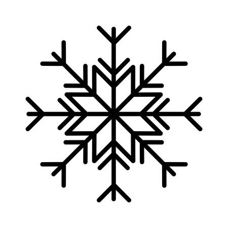 happy merry christmas snowflake icon vector illustration design