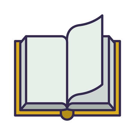 Livre de texte de l'éducation ouverte conception d'illustration vectorielle icône isolé