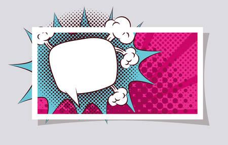expression cloud pop art style vector illustration design