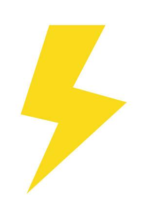 thunder pop art style vector illustration design