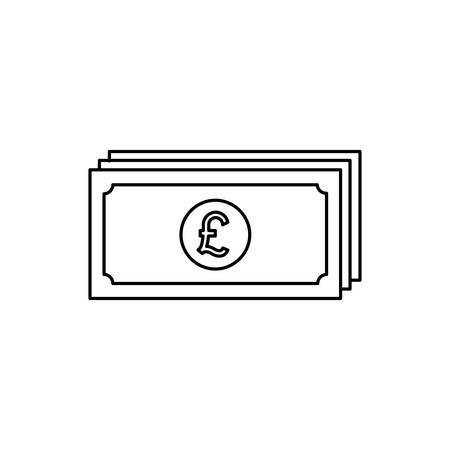 bills euro money economy icon vector illustration design Illusztráció