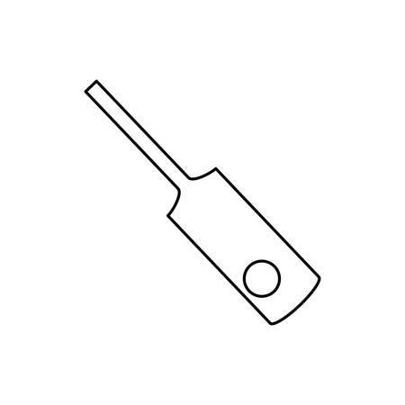 cricket sport bat and ball vector illustration design Stock Vector - 134049489