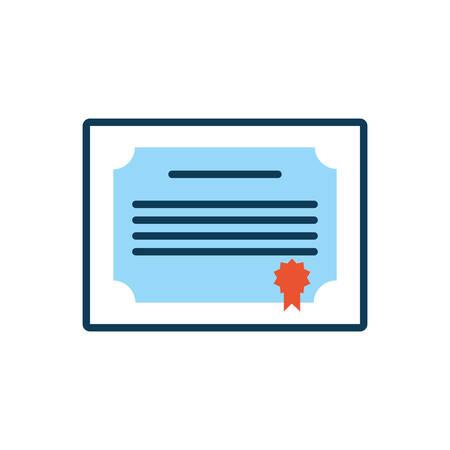 graduation diploma certificate isolated icon vector illustration design