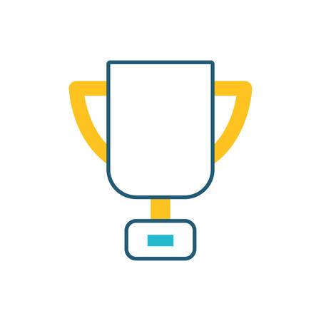 success trophy cup award icon vector illustration design