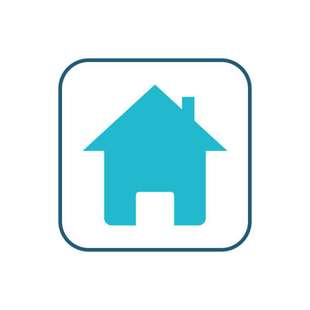 home silhouette button isolated icon vector illustration design  イラスト・ベクター素材
