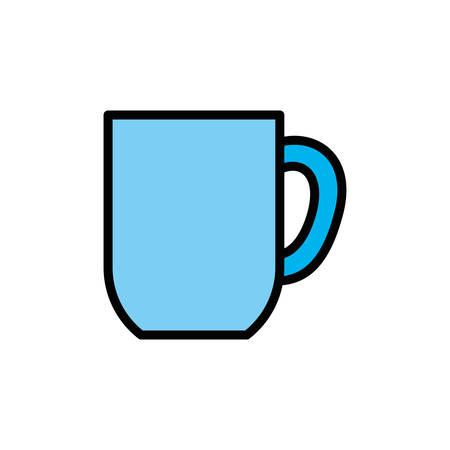 Coffee mug design, Drink breakfast beverage bakery restaurant and shop theme Vector illustration Illustration