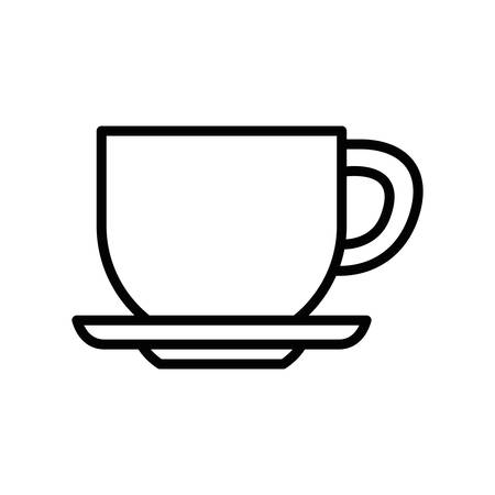 Coffee cup design, Drink breakfast beverage bakery restaurant and shop theme Vector illustration Illustration