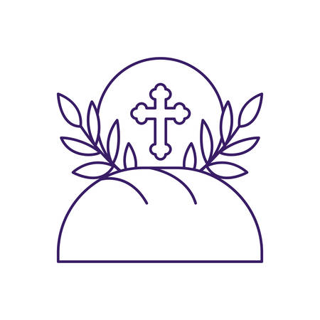 Communion wafer and bread design, religion christianity god faith spirituality belief pray and hope theme Vector illustration