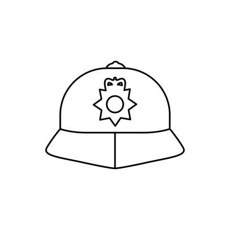 england police hat isolated icon vector illustration design Ilustração