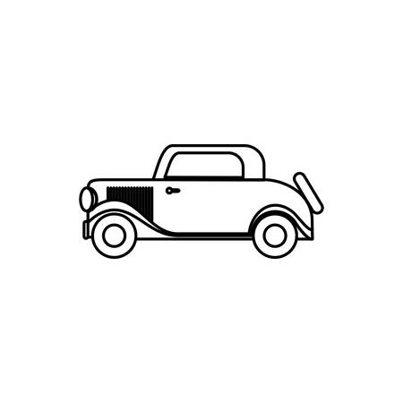 england classic car isolated icon vector illustration design