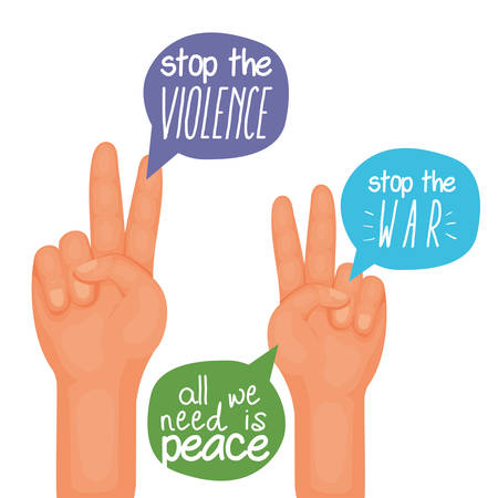 Hand sign design, Human rights freedom international help social law and equality theme Vector illustration