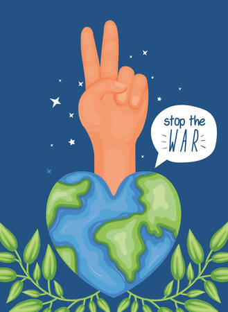 Hand sign and world design, Human rights freedom international help social law and equality theme Vector illustration Ilustracja