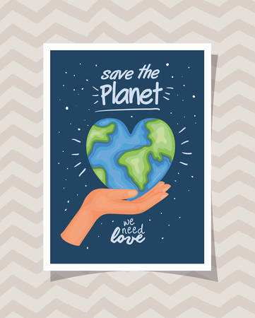 Planet design, Human rights peace freedom international help social law and equality theme Vector illustration