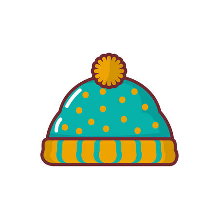 Snow hat icon design, Cloth fashion style wear shop retail and store theme Vector illustration