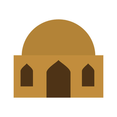Dome house building isolated icon vector illustration design